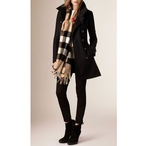 Authentic Burberry Brit Black Wool Peacoat size 6